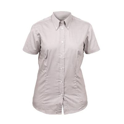 Ladies Short Sleeve Oxford Blouse