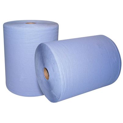 2 Ply Blue Workshop Wiper Roll