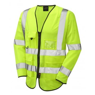 High Visibility Long Sleeved Zipped Waistcoat