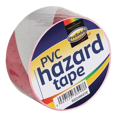 Red And White Adhesive Hazard Tape