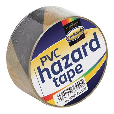 Black And Yellow Adhesive Hazard Tape