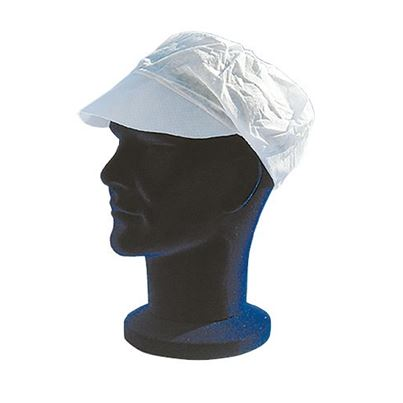 Disposable Peaked Cap With snood (X100)