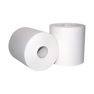 2 Ply White Centrefeed Rolls (X6)