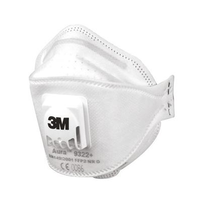 3m Fold-Flat Valved Disposable Mask Ffp2v (X10)