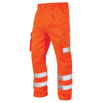 High Visibility Polycotton Cargo Work Trouser