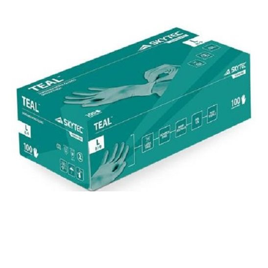 Skytech Teal Disposable Gloves (X100)