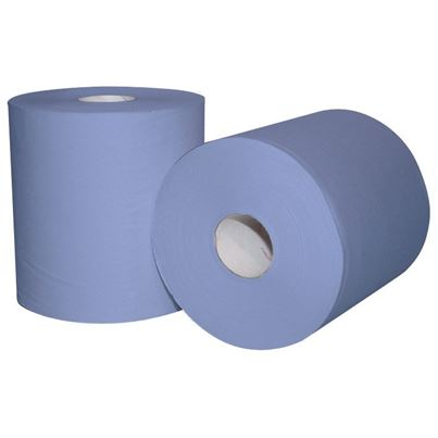 2 Ply Blue Centrefeed Rolls (X6)