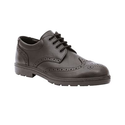 Lavoro Leather Lined Brogue Safety Shoe W/ Midsole