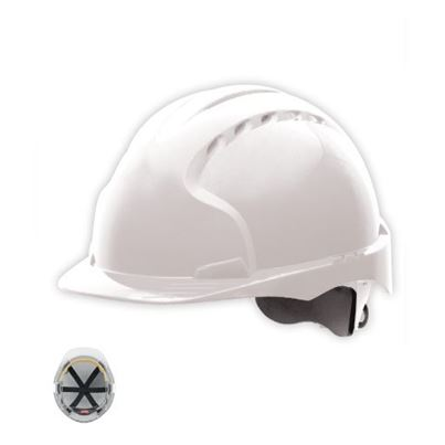 Safety Helmet Mid Peak Vented Slip Ratchet