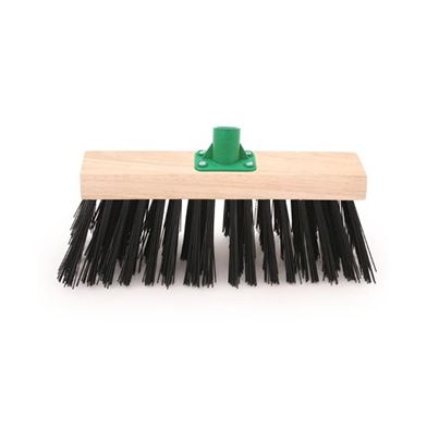 Black Pvc Scavenger Broom Head C/W Plastic Socket