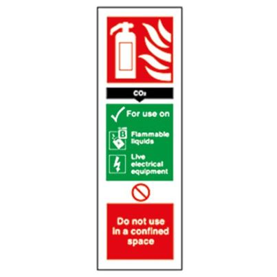 Co2 Fire Extinguisher Rigid Sign