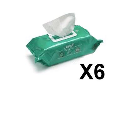 Clinell Sanitising Wipes (X200) X 6 Pack